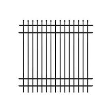 metal fence panels home depot. Cascade Standard-Duty 6 Ft. H X W Black Aluminum Pre Metal Fence Panels Home Depot N
