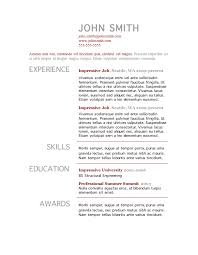 Skills Resume Template Word