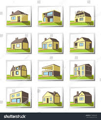 different types of houses marvelous various types houses vector illustration stock pict of