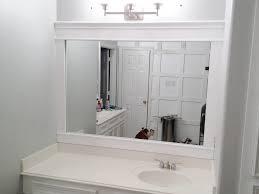 bathroom maple framed bathroom mirror mirrors framing with molding diy wood frame ideas tile