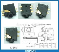 popular er stereo jack buy cheap er stereo jack lots from 500pcs 5pin smd 3 5mm stereo jack headphones socket panel mount ering pj 365