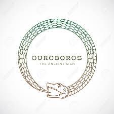 Stock Vector Ouroboros лого игры идеи для татуировок и татуировки