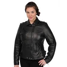 plus size womens leather jacket