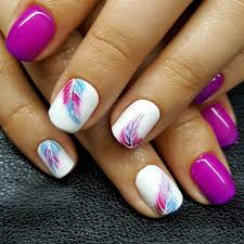 Fun Summer Nail Designs 45 Top Trending Nail Art 2019 Feather Nail Art Feather