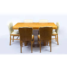 Maple Kitchen Table And Chairs Antique Art Deco Birdseye Maple Dining Table 6 Chairs C 1930
