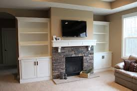 Wall Units, Premade Built In Bookshelves Floor To Ceiling Bookcase Kits  Fireplace Mantels With Built