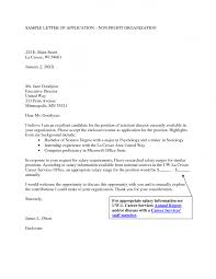 Latest Trend Of Sample Cover Letter For Non Profit Organization 39
