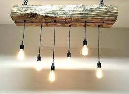 decoration rustic wood chandelier light fixtures for over the island reclaimed barn sleeper beam fixture
