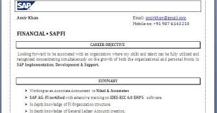 Sap Fico Resume Sample - Resume Sample