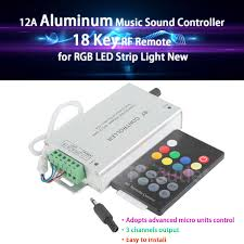 Sound To Light Controller Details About For Rgb Led Strip Light Dj 12a Aluminum 18 Key Music Sound Controller Rf Remote