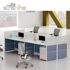 modern melamine mdf office furniture set 4 person desk workstation ys ku w2812