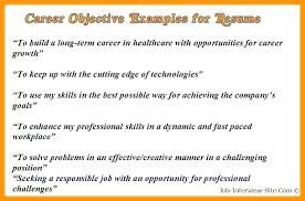 career goals for resumes 6 7 career goals on resume objective for freshers socialum co