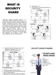 security guard handbook
