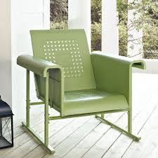 Single Easy Back Poly Glider Chair From DutchCrafters Amish FurnitureOutdoor Glider Furniture