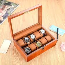 mens wooden watch box slots wood watch box brand watch storage box with lock pillow jewelry watch gift case display watch box mens wooden watch box uk