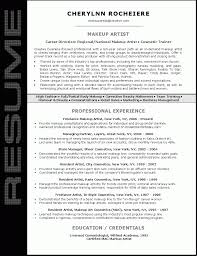 Makeup Artist Resume Objectives Sample Job And Objective Examples
