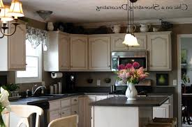 Modern Above Kitchen Cabinet Decor Wow Blog Ideas For Decorating