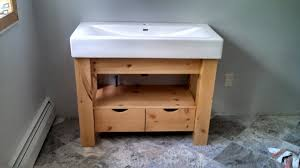 Pine Bathroom Cabinet Nonsensical Knotty Pine Bathroom Vanity Wayfair Cabinets And Sink