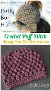 Free Crochet Ponytail Hat Pattern Custom Crochet Ponytail Messy Bun Hat Free Patterns [Instructions]