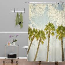 west palm tree fabric bathroom shower curtain ing