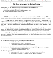 Full Demo Lesson Teaching Writing Argumentative Essay