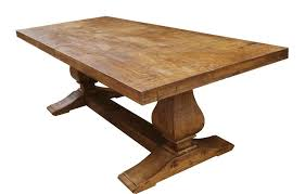segovia reclaimed wood trestle dining table