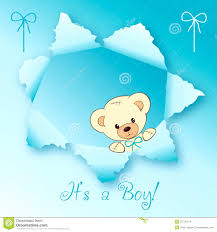 Card For Baby Boy Baby Boy Card Design Stock Illustration Illustration Of