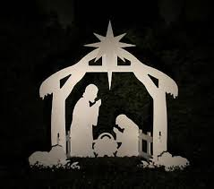 Image result for outdoor nativity