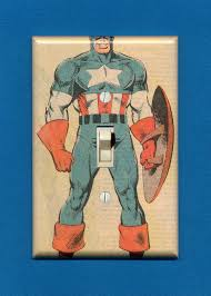 Superhero Light Switch Cover Superhero Light Switch Plate Captain America