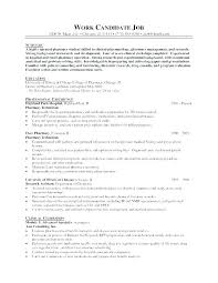 Objective For Pharmacy Resume Retail Pharmacist Resume Template T Example Awesome Professional