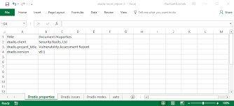 Create An Excel Template Dradis Pro Help