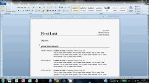 doc how to make an easy resume in microsoft word creating resume in word template