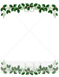 christmas menu borders holly garland border christmas borders