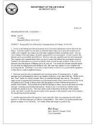 Air Force Official Memorandum