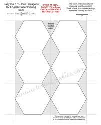Texas Freckles: Hexagon Charm Quilt Piece-Along - Easy Cut 1 1 ... & Texas Freckles: Hexagon Charm Quilt Piece-Along - Easy Cut 1 inch Hexagon  Template to print Adamdwight.com