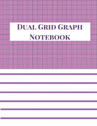 Dual Grid Graph Notebook 4x4 Half Lined Half Graph Paper Notebook Graph Paper And Lined Paper Notebook 100 Pages 8 5 X 11 Size Lilac