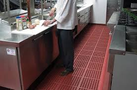 commercial kitchen flooring and restaurant mat products made of rubber and vinyl