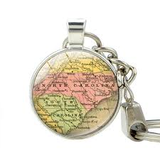 north carolina map key holder south carolina state map pendant car keychain jewelry souvenir keychains best