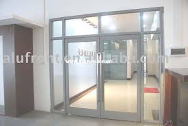 glass commercial doors manufacturers in aluminium entrance