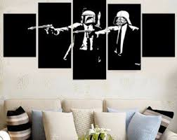 star wars storm trooper pulp fiction canvas wall art framed 5 panel size 1 on star wars canvas panel wall art with amazon star wars storm trooper pulp fiction canvas wall art