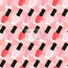 Plakát Lak Na Nehty či Lak Na Nehty Bezešvé Vzor Světle Růžová Růžové