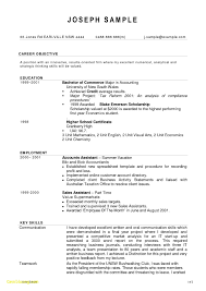 Cost Accounting Resume Resume Template