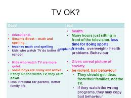 what s the topic of our essay discuss the questions below  3 tv ok