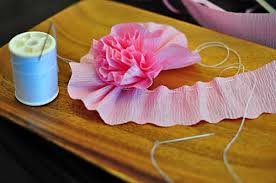 Making Flower Using Crepe Paper How To Make Crepe Paper Flowers