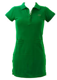 lacoste michael young green polo shirt dress xs s
