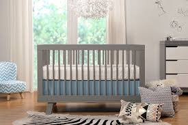 babyletto hudson in convertible crib with toddler rail grey