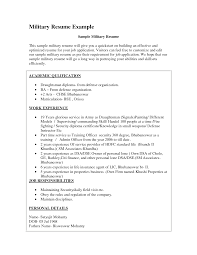Military Police Resume Police Resume Cover Letter Examples By