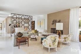 the living room exudes a 1960s granny chic notes designer joelle c