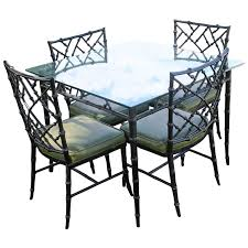 phyllis morris patio set dining chairs and table faux bamboo chinese chippendale for