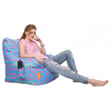 orka digital printed arm chair filled with beans star